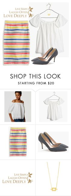 """""""Stripes and polka dots"""" by villasba on Polyvore featuring LOFT, Madewell and J.Crew"""