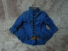 Gorgeous Antique Silk Dress Jacket Hat french Bebe Costume for Jumeau from believe on Ruby Lane