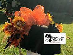 Fall Mailbox Topper Tutorial, My Crafts and DIY Projects