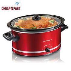 Crock-Pot Cook' N Carry Oval Manual Portable Slow Cooker, Stainless Steel. Color:Silver Crock-Pot Cook' N Carry Oval Manual Portable Slow Cooker, Stainless Steel. Large Slow Cooker, Crock Pot Slow Cooker, Crock Pot Cooking, Slow Cooker Recipes, Crockpot Recipes, Crock Pots, Freezer Recipes, Healthy Recipes, Freezer Cooking