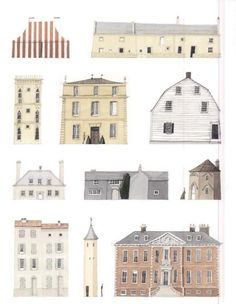 Laura Stoddart Painting Collage, Little Houses, Art Sketchbook, Victorian Homes, Watercolor Illustration, Line Drawing, Taj Mahal, Concept Art, Fine Art