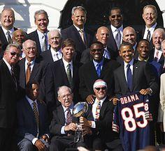 Da '85 Bears finally get their White House Visit.