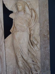Diaphanous marble - masterful carving in Museum of Aphrodisias, Turkey