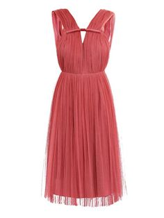 Silk tulle Grecian dress
