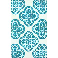 Infinity Trellis Collection Area Rug in Teal Blue design by NuLoom