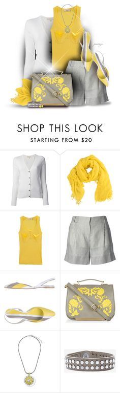 """Sunshine on a Cloudy Day"" by rockreborn ❤ liked on Polyvore featuring MICHAEL Michael Kors, Chan Luu, I'Miusa, STELLA McCARTNEY, Jil Sander, Darling, Topshop, IRO, FOSSIL and scarf"