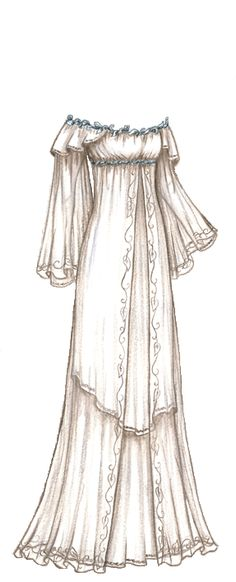 beautiful sketch of a gown... I'm a pretty decent artist, but when it comes to designing clothes, I can't seem to put down on paper, what I see in my head