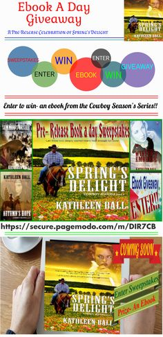 ** Ebook a day Giveaway** Countdown to Spring's Delight Release- Enter to win- an ebook from the Cowboy Season's Series!! https://secure.pagemodo.com/m/DIR7CB