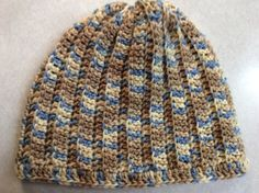 Adult or teen beanie hat hand crochet hat by Yarnhotoffthehook Crochet Beanie Hat, Beanie Hats, Knitted Hats, Crochet Hats, Beanies, Ski Hats, Hat Sizes, Vintage Gifts, Etsy Handmade