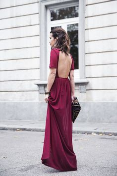 Mulberry open back dress backless dresses, prom dresses, formal dresses, . Look Fashion, Fashion Beauty, Womens Fashion, Pretty Dresses, Beautiful Dresses, Gorgeous Dress, Looks Party, Mode Boho, Looks Street Style