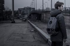 The Solid Gray Speaker Backpack.