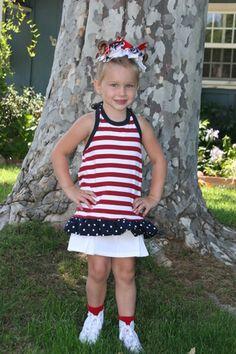 super easy girl's tank top dress