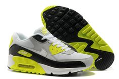 Nike Air Max 90 Herren Schuhe Grau/Fluoreszenz Grün/Schwarz