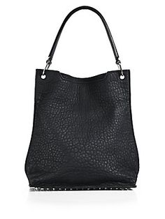 2089521c50d0 Alexander Wang - Darcy Pebbled Leather Hobo Bag Silvertone