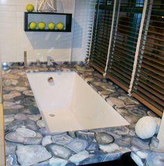 Gray Agate Sunken Bathtub
