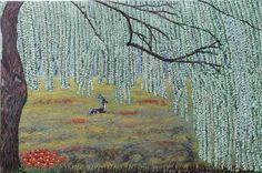 "Saatchi Art Artist Emine Basoglu; Painting, ""antilope"" #art 24 H x 36 W, $299"