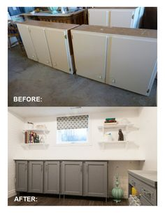 actually exactly how I wanted the cabinets to look! sleek pulls, sharp outer frame-but made out of steel, and cut the middle out and replace it with bubbled glass...