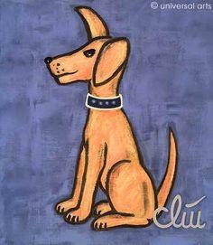 "Jacqueline Ditt - ""Der wachsame Hund"" (The attentive Dog) 2005  print after a painting - www.universal-arts.de"