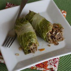 Asian Stuffed Napa Cabbage Rolls | Aggie's Kitchen