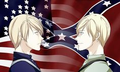 Dark Hetalia - USA and CSA