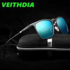 9fc1061df1a70 2017 Brand Mens Square Retro Aluminum Mirrored Sunglasses Polarized Vintage  Eyewear Accessories Sun Glasses Blue 6368