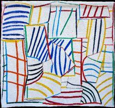 Francoise Paressant: Tapestry. la strada - 156x165cm
