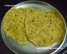 Cabbage Roti - Patha Gobi Roti   Simple Indian Recipes