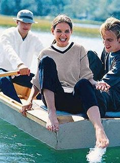 "Joey tests the waters of Capeside's creek. | The Beautiful 1998 ""Dawson's Creek"" J. Crew Catalog"