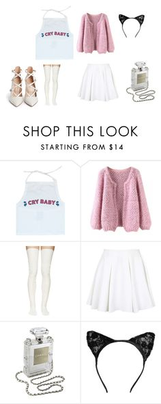 """Untitled #212"" by moonlightprincess93 on Polyvore featuring Sacai Luck, Topshop, Chanel and Gianvito Rossi"