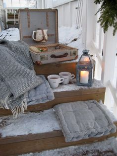 winter snow vintage cozy