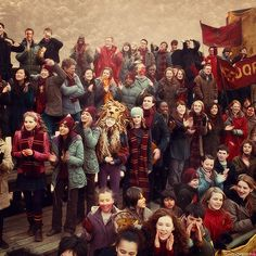 I love how they're all so in character, including Hermione looking rather over it.