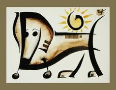 dachshund by  Pugcasso
