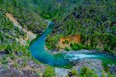 Illinois River, Southern Oregon winds through the Kalmiopsis Wilderness Area. Its dark, slick granite canyon walls make it one of Oregon's best (warmest) places for swimming and kayaking. I wanna go here! Backpacking Oregon, Oklahoma, Wonderful Places, Beautiful Places, Oregon Caves, Illinois, Oregon Coast, Vacation Spots, The Great Outdoors