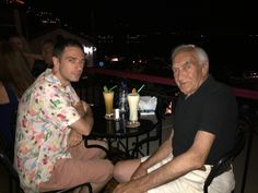 Me and son at a bar.  Molyvos, Lesbos, GR.  2017_07