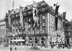 700 Jahr Feier Berlin 1937. Hotel Adlon im Festschmuck.