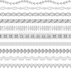 10 different seamless border and frame elements. Easy to edit! You can also add these to the brush palette.