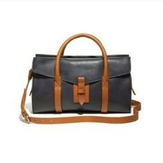 Madewell Satchell Great condition. Navy and tan leather Madewell satchel. Some minor pen marks in a few places. Actual photos coming soon. Madewell Bags Satchels
