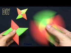 How To Make A Paper Fidget Spinner - Origami Fidget Spinner - YouTube