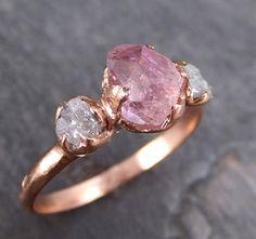 Rohe grobe rosa Topas Konflikt kostenlose Diamanten von byAngeline