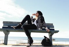 By Johnny  Bomber Jacket, Alexander Wang Tee, Rag & Bone Jeans, Givenchy Shoes