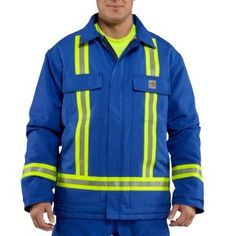 Carhartt 100161 Men's Flame-Resistant Duck Traditional Coat Striped #Carhartt #Coverall