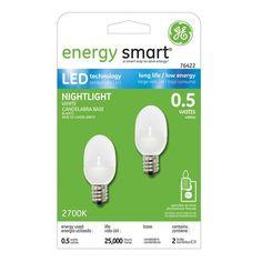 GE 2 Pack LED Night Light Bulbs: Shopko