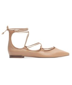 A fresh update on the ballerina flat, this tie-up style provides the same outfit-making edge of a strappy, heeled sandal in a supremely easy (and comfortable) form.