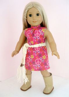 RESERVEDAmerican Girl Clothes 70's Dance Dress by SewedHerMind, $16.00