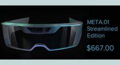 futuristic pair of 'Space Glasses' called #META