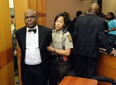 Convicted: Donald Bullock, left, former Atlanta Public Schools Usher-Collier Heights Elementary testing coordinator, is led to a holding cell after a jury found him guilty in the Atlanta Public Schools cheating trial Doctor Robert, Bengali News, Current Events, Ny Times, Scandal, Cheating, Georgia, Education, People