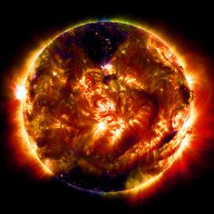 SDO Collects Its 100 Millionth Image | by NASA Goddard Photo and Video. An instrument on our Solar Dynamics Observatory (SDO) captured its 100 millionth image of the sun. The instrument is the Atmospheric Imaging Assembly, or AIA, which uses four telescopes working parallel to gather eight images of the sun – cycling through 10 different wavelengths -- every 12 seconds. This is a processed image of SDO multiwavelength blend from Jan. 19, 2015, the date of the spacecraft's 100th millionth…