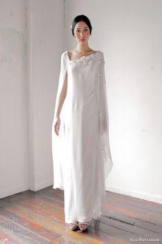 alia bastamam 2013 kaftan cape style wedding dress