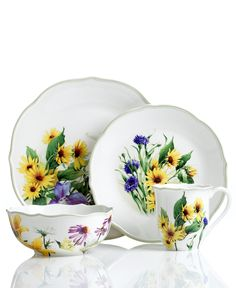 Floral Meadow Sunflower dishes from Lenox Dinnerware. Replacing my everyday dinnerware with these Floral Meadow Lenox  UMMM
