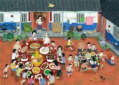 三合院圍爐2-s   Flickr - Photo Sharing!. Taiwanese artist.